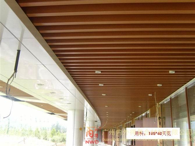生态木天花吊顶案例图,生态板天花吊顶效果图,过道木天花吊